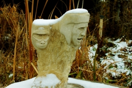 Snowgoyles, Garden Workshop Tour, Halloween 2013