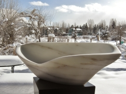 "$2,850 On The Cusp 26.5x12.5x8.5"", 1314 Winter Collection, Marble Sculpture by MARTIN COONEY"