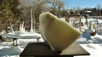 'Along The Way', 1314 Winter Collection, Colorado Yule Marble Sculpture by Martin Cooney