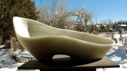 "$3,550 Along The Way 23.5x11.5x10.5"", 1314 Winter Collection, Colorado Yule Marble Sculpture by Martin Cooney"