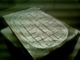 Mystique Masque, rough block, 1314 Winter Collection, Colorado Yule Marble Sculpture by Martin Cooney