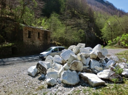 Roadside Fragmented Carrara Marble, The Road to Castelnuovo, Marble Dump