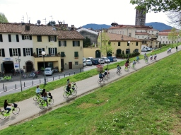 Ramparts, Bicyling Around Lucca, Tuscany, Italy