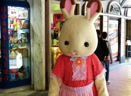 Easter Bunny, Central Pisa, Along The North West Tuscan Way by Martin Cooney