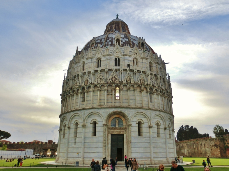 Pisa Baptistery, The Place of Miracles, on the North West Tuscan Way by Martin Cooney