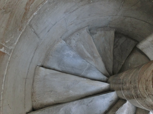 Spiral Staircase within The Leaning Tower of Pisa, Italy, on the North West Tuscan Way by Martin Cooney