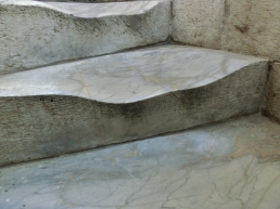 Worn Steps of The Leaning Tower of Pisa, Italy, on the North West Tuscan Way by Martin Cooney