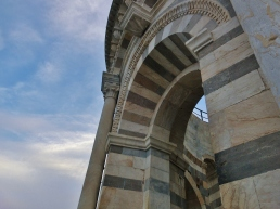 Crown Atop The Leaning Tower of Pisa, Italy, on the North West Tuscan Way by Martin Cooney
