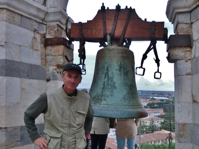 Author martincooney.com at The Leaning Tower of Pisa, Italy, on the North West Tuscan Way by Martin Cooney