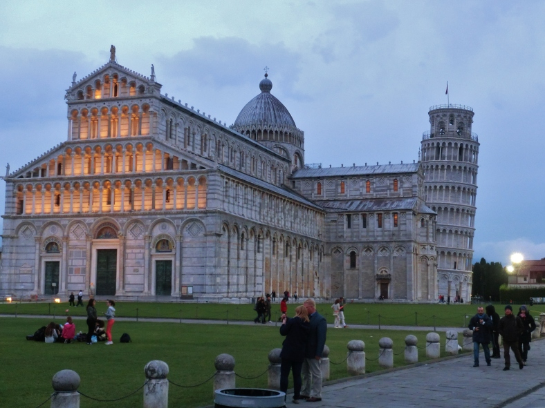 Dusk settles upon Pisa Cathedral and Leaning Tower, on the North West Tuscan Way by Martin Cooney