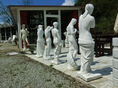 On the Road to Carrara marble Quaries, Tuscany, Italy