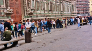 Long Lines the Order of the Day in Florence.