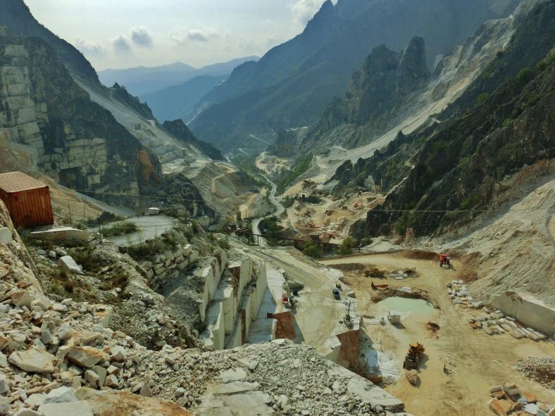 Carrara marble quarry Tuscany, Italy