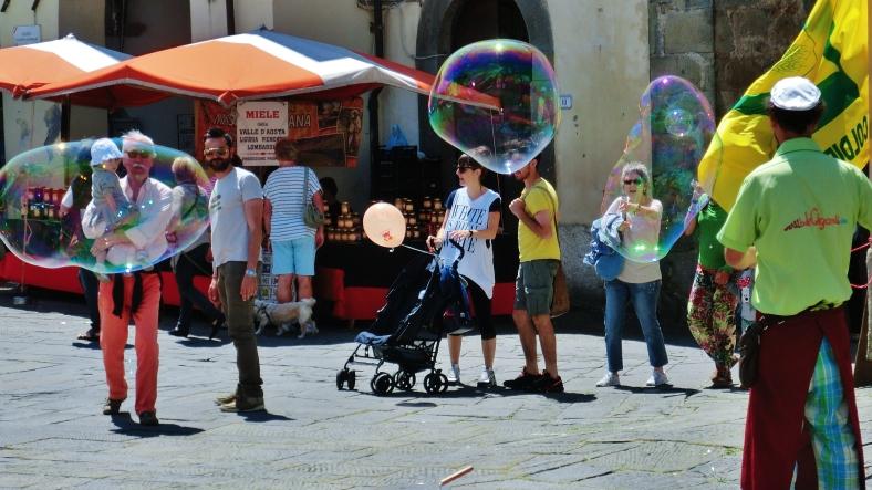 Fivizzano in Festive Mood, Luginiana, Tuscany, Italy