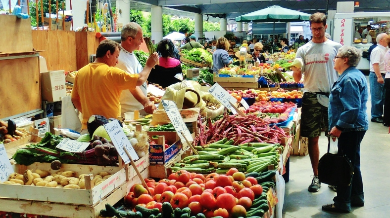 Marketplace in La Spezia, Italy