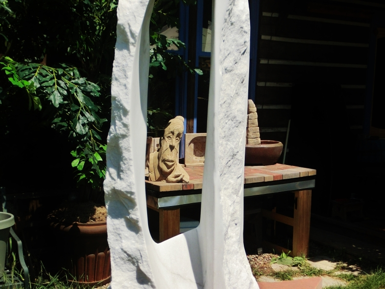 studio: Oblique Projection, Boogieman, sculpture garden