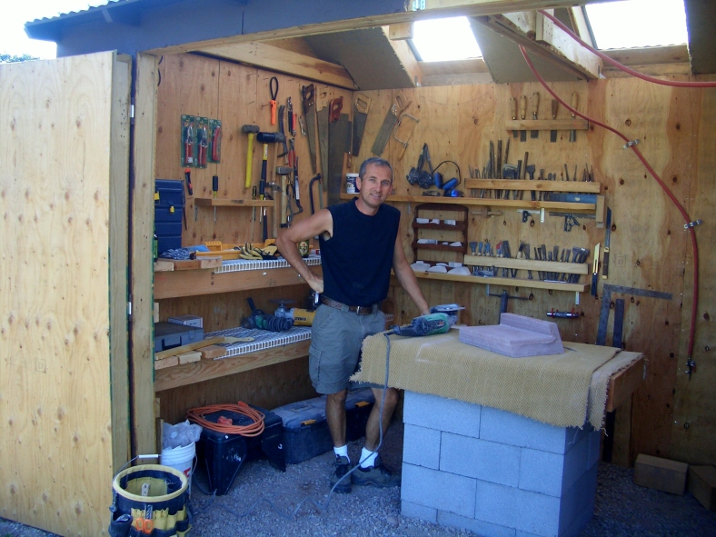 Author, First of August. 2004 A Brand New Studio Workshop is Born.
