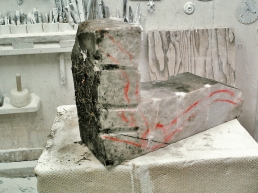 Rough Block, 'Finger Bowl' by MARTIN COONEY, Colorado Yule Marble, 1314 Winter Collection