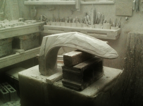Unfinished 'Finger Bowl' by MARTIN COONEY, Colorado Yule Marble, 1314 Winter Collection