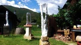 Oblique Perspective, Wolf Man Jack in the Sculpture Garden