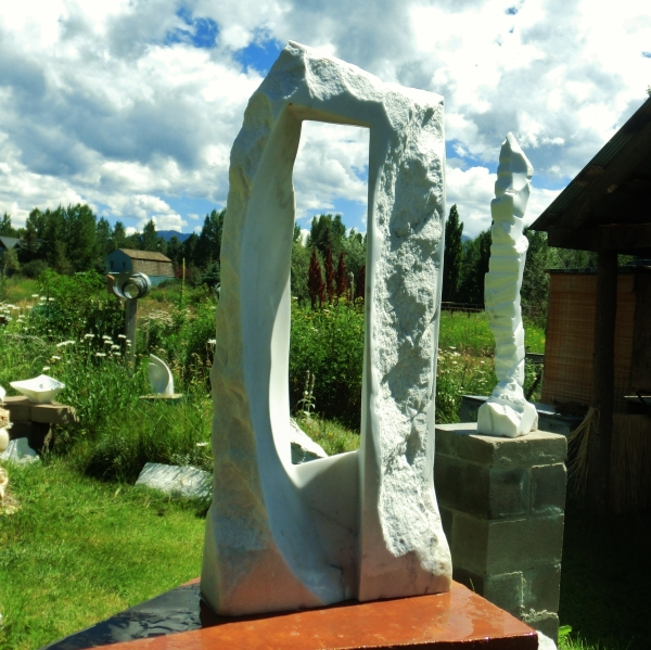 'Oblique Perspective', Colorado Yule Marble, 1314 Winter Collection by MARTIN COONEY