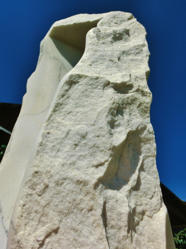 'Oblique Perspective', Colorado Yule Marble Sculpture, 1314 Winter Collection by MARTIN COONEY