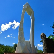 'Oblique Perspective', Colorado Yule Marble Sculpture by MARTIN COONEY
