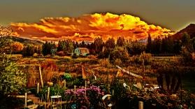 Autumn Equinox Sunset Clouds Over Aspen, CO 2014
