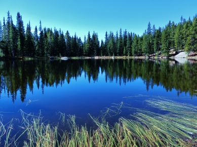 Sound Wave Lake, Two day hikes from Uncle Bud's Hut, Late September, Colorado, 2014