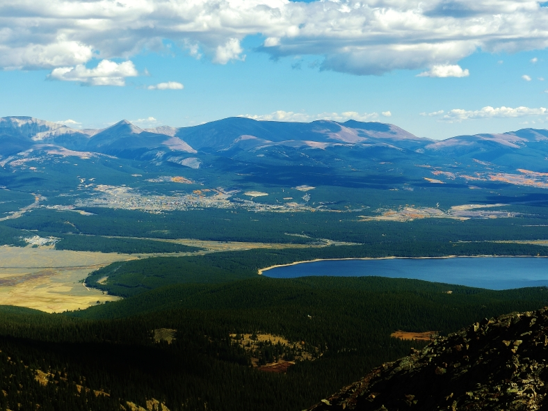 View from top of Galena Mountain, Two day hikes from Uncle Bud's Hut, Late September, Colorado, 2014