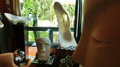 'Mystique Masque', 'Industrial Evolution', 'Pilgrim', Marble Sculpture by Martin Cooney