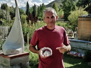 Martin Cooney in the Sculpture Garden, Woody Creek, CO