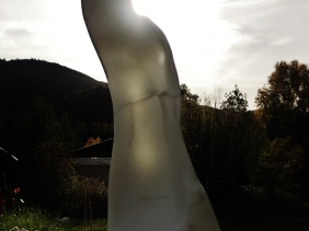 'Pilgrim', Marble Sculpture by Martin Cooney