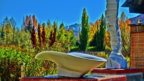'San Rocchino Bowl', Autumn of 14 Collection, Colorado Yule Marble Sculpture by Martin Cooney
