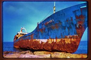beached-boat-gemari-angle-karpathos-greece