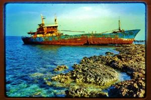 beached-boat-gemari-profile-karpathos-greece