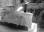 'Beached Boat' (rough block) Hand Carved Marble Bowl by Martin Cooney
