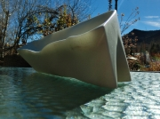 'Beached Boat' Hand Carved Colorado Yule Marble Bowl by Martin Cooney