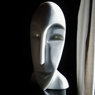 'Girl in the Moon' Sculpted Marble Mask by MARTIN COONEY