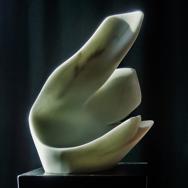 'Curvilinear Campfire' Hand Carved Marble Bowl by MARTIN COONEYY