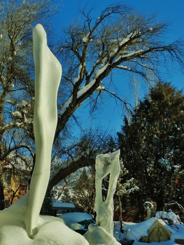 'Catwalk'. 'Wolf Man Jack', The Sculpture Garden, Woody Creek CO