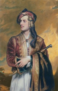 Lord Byrom in Albanian Dress