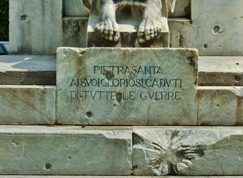War Memorial, Pietrasanta, Tuscany, ItalySnapped by MARTIN COONEY
