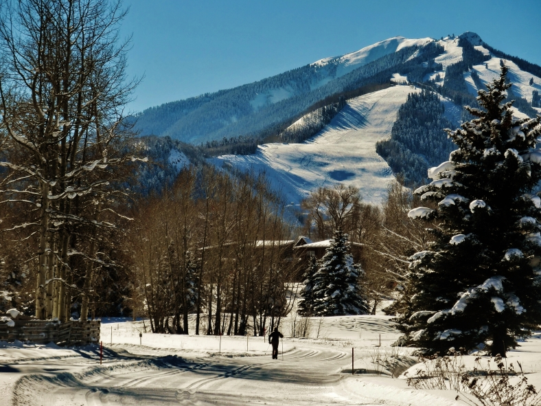 Aspen Golf Course, view towards Highland's Bowl, January 2nd 2015