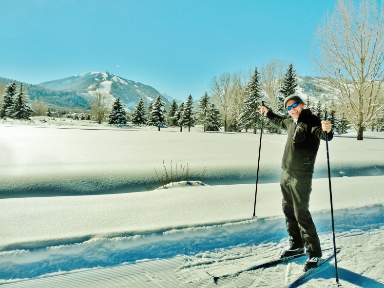 Aspen Golf Course, Nordic, view towards Highland's Bowl, January 2nd 2015