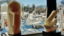 'Salt of the Earth' & 'Curvilinear Campfire', Colorado Yule Marble Sculpture by MARTIN COONEY