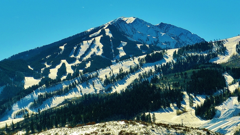 Buttermilk Ski Area, Aspen Highlands, from McClain Flats Rd by MARTIN COONEY