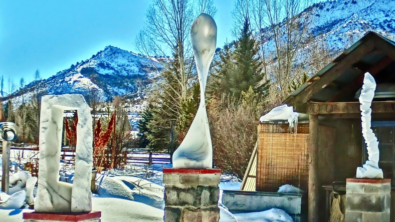 Maypole, Colorado Yule Marble Sculpture by Martin Cooney