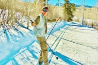 Martin Cooney tackles the Owl Creek Nordic track, Aspen, Snowmass, Colorado