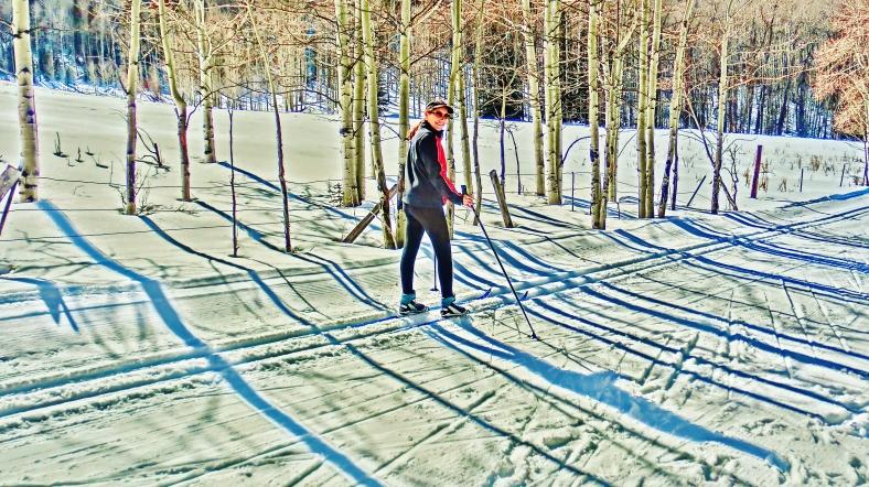 Kris, Owl Creek Road Trail, Aspen/Snowmass Village Express. MARTIN COONEY